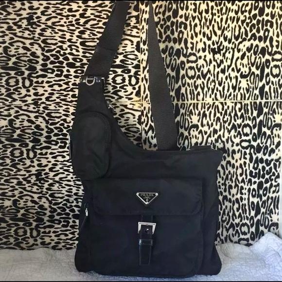 591b38b74b885e Authentic PRADA Black Nylon Crossbody Bag! M_5a41ece28af1c5b9a604aef3